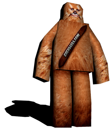 papercraft chewbacca by 04