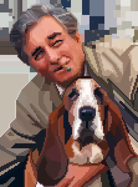 Lieutenant Columbo, portrayed by Peter Falk, with dog by 04_